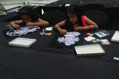 Dasara special VR Kids' Kanvas - Embossed painting d&eacutecor workshop on 18th Oct '18
