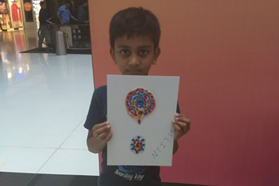 Dasara special VR Kids' Kanvas - Kundan Rangoli design workshop on 16th Oct '18