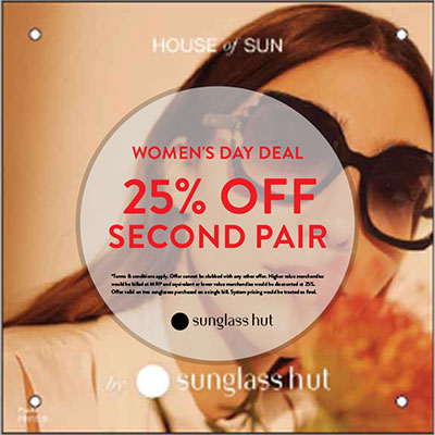 25% Off Second pair