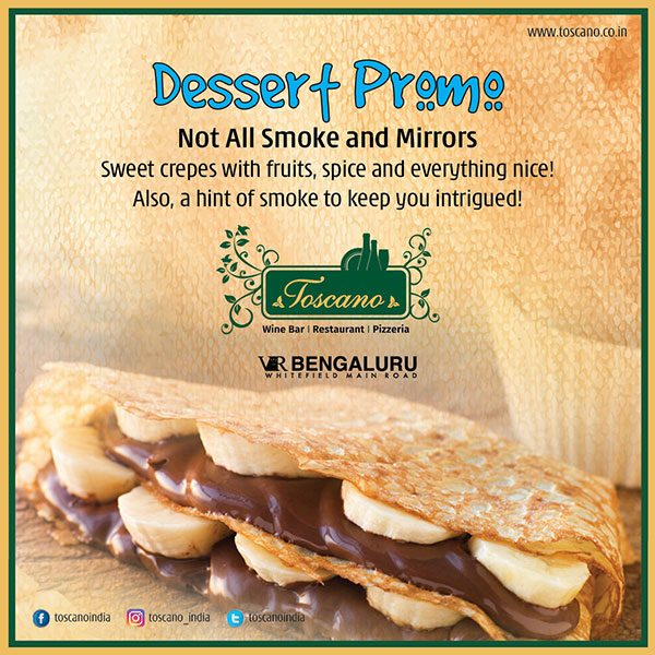 Not Just Smoke and Mirrors Dessert Promotion