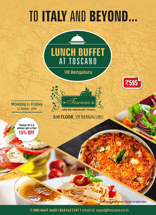 To Italy and Beyond... the weekday working lunch buffet