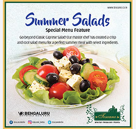 SUMMER SALAD ( MON- SUN) FOR LUNCH AND DINNER